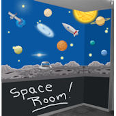 Space Adventures Peel and Stick Wall Mural