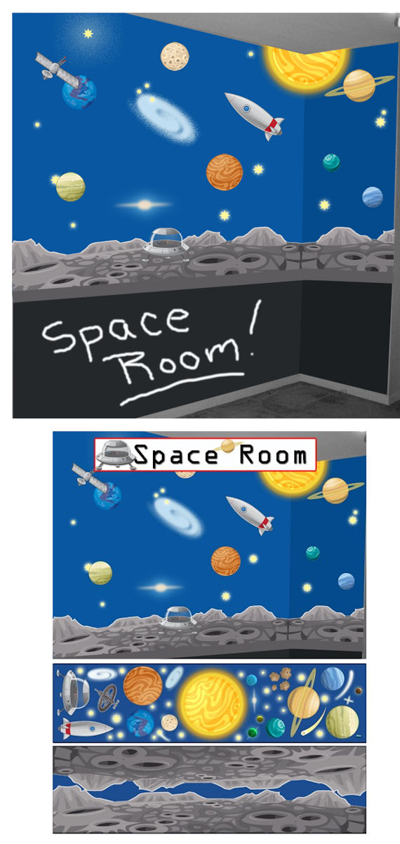 Space Adventures Peel and Stick Wall Mural - Wall Sticker Outlet