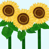 Giant Sunflower Peel and Stick Stickers