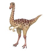 Gallimimus Dinosaur Peel and Stick Mural 3 Sizes