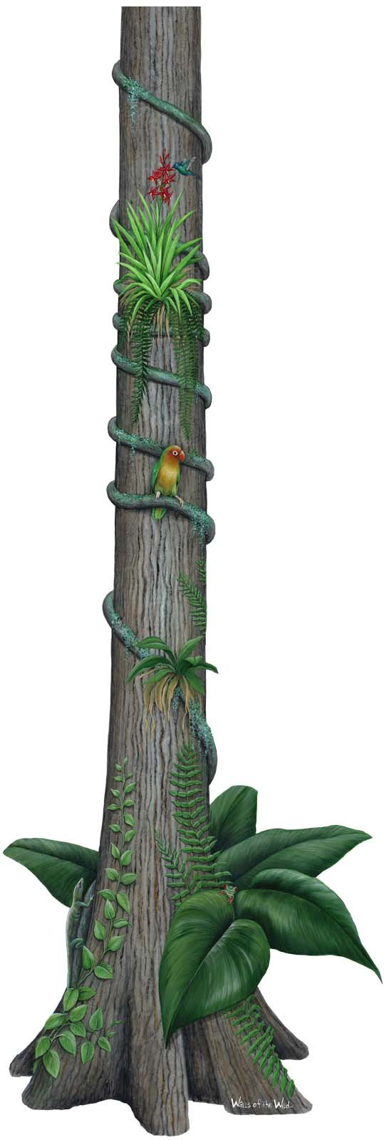 Rainforest Tree Peel and Stick Wall Sticker - Wall Sticker Outlet