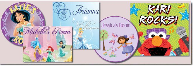 Girls Custom Wall Stickers