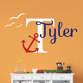 Custom Anchor Nautical Name Wall Decal