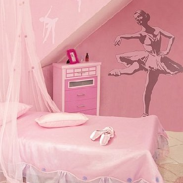 Dorm Room Decorating Ideas  Girls on Dance   Ballet Theme Bedroom   Girls Dancing Wall Decor