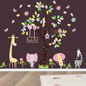Dancing Jungle Animals Wall Decals