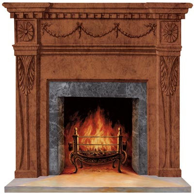 Dark Wood Formal Fireplace Peel And Stick