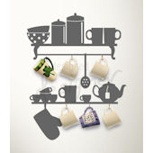 Mug Rack Wall Decal