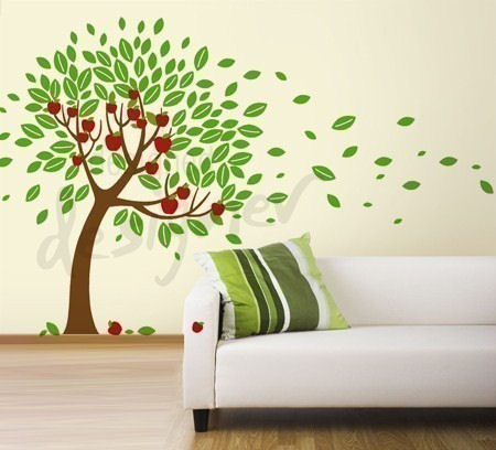 Trailing Apple Tree Wall Decal