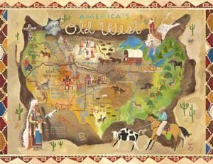 Americas Old West Wall Canvas Art - Wall Sticker Outlet