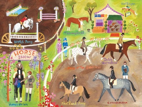 English Horse Show - Kids Wall Decor Store
