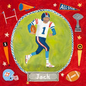 Football Star Personalized Canvas Wall Art