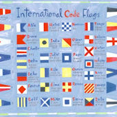 Nautical Flags Wall Canvas Art