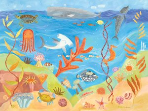 Ocean World Wall Canvas Art - Wall Sticker Outlet