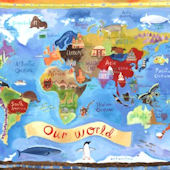 Our World Wall Canvas Art