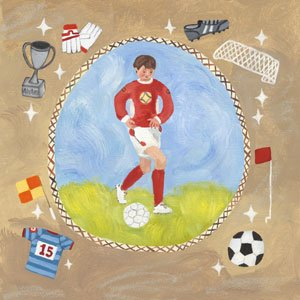 Soccer Star Boy Canvas Wall Art - Wall Sticker Outlet
