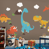 Dinosaur Giant Wall Decals Color Scheme A