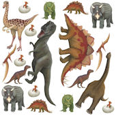 Dinosaur Peel and Stick Wall Decal Collection