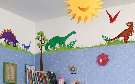dinosaur theme boys bedroom dino themed room wall decals