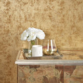 Distressed Gold Leaf Gold Peel Stick Wallpaper