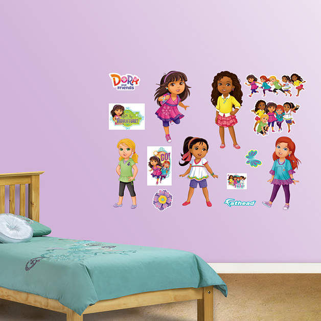Fathead dora and friends collection decals for Dora the explorer wall mural
