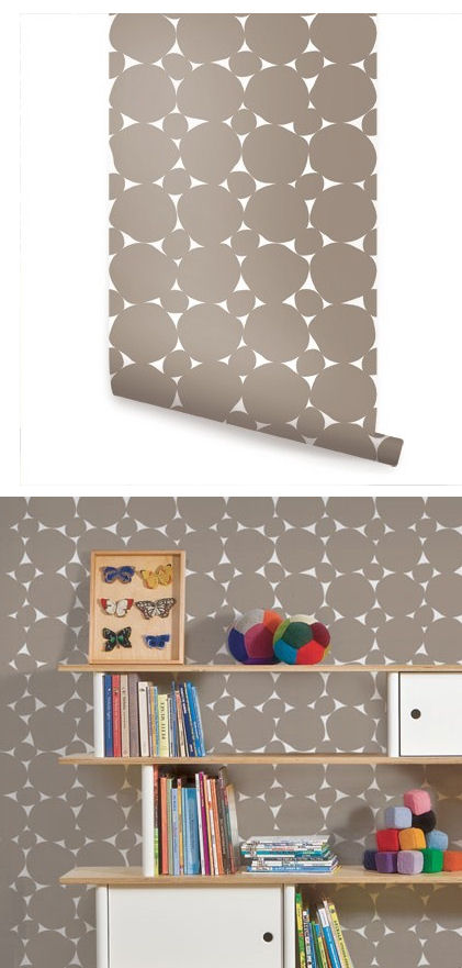Dots Warm Gray Peel And Stick Wallpaper