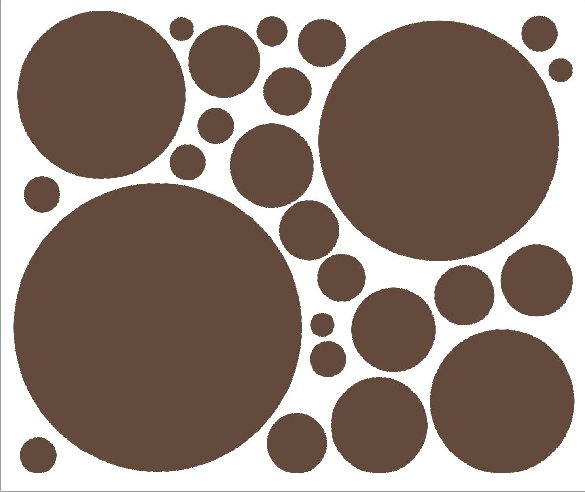 Chocolate Brown 25 Peel and Stick Wall Stickers - Kids Wall Decor Store