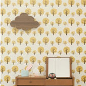 Ferm Living Dotty Yellow Wallpaper
