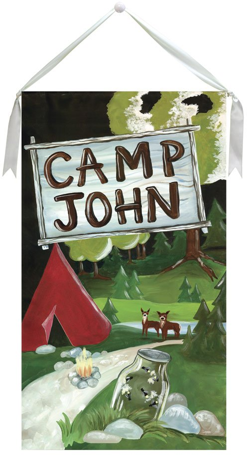 Happy Camper Wall Hanging by Drooz Studio - Kids Wall Decor Store