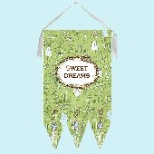 Sweet Dreams Green Toile Wall Hanging Drooz Studio