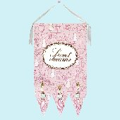 Sweet Dreams Pink Toile Wall Hanging Drooz Studio