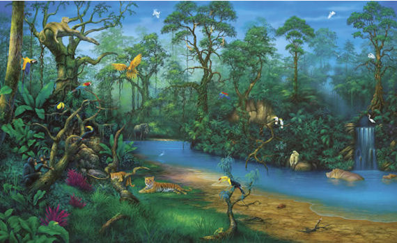 Jungle dreams wall mural c829 for Environmental graphics wall mural