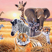 Safari II Wall Mural C871