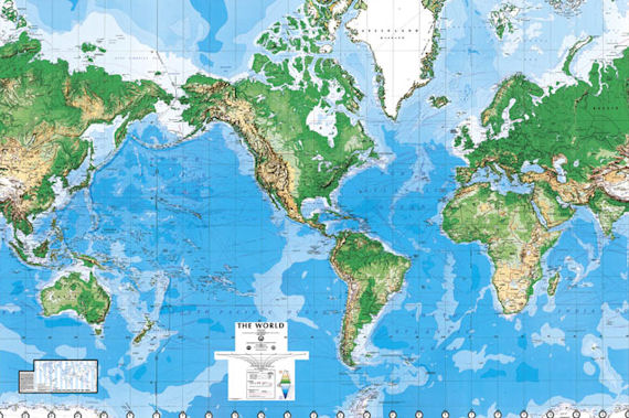 World map dry erase executive wall mural c900 for Executive world map wall mural