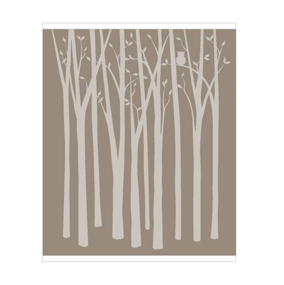 birch tree wallpaper. Wall Birch Tree Silhouette