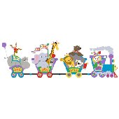 Elephants on the Wall Circus Train Wall Mural