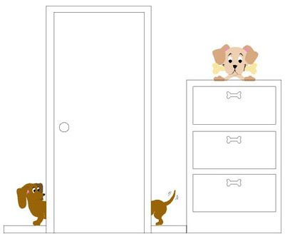 Elephants on the Wall Daschund Pooch Mural - Wall Sticker Outlet