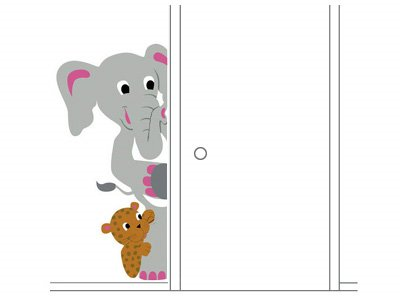 Elephants On The Wall Elephant Leopard Mural - Wall Sticker Outlet