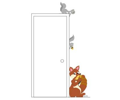 Elephants on the Wall Fox Squirrel Mural - Wall Sticker Outlet