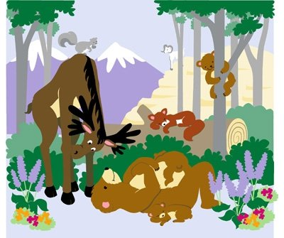 Elephants on the Wall Moose on the Loose Mural - Wall Sticker Outlet