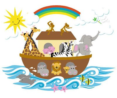 Elephants on the Wall Noahs Ark Mural - Wall Sticker Outlet