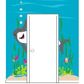 Elephants on the Wall Shark Doorhugger Wall Mural