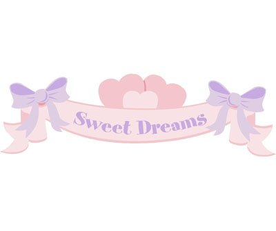 Elephants on the Wall Sweet Dreams Banner Mural - Wall Sticker Outlet
