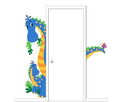 Elephants on the Wall Peek a Saurus Mural - Wall Sticker Outlet