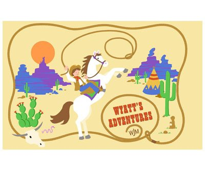 Elephants on the Wall Wyatts Adventure Mural - Kids Wall Decor Store