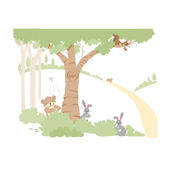 Teddys Wooded Wonderland 1 Wall Mural