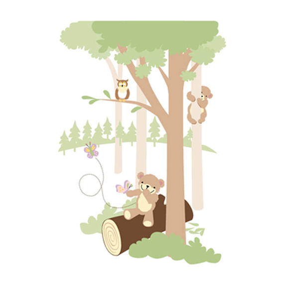Teddys Wooded Wonderland 2 Wall Mural - Wall Sticker Outlet