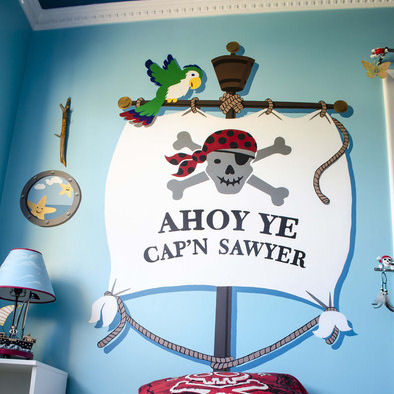 Elephants on the Wall Ahoy Ye Matey! Bedhugger - Wall Sticker Outlet