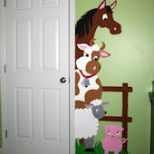 Elephants On The Wall Barnyard Doorhugger Mural