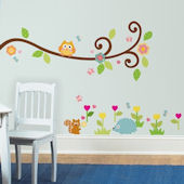 Scroll Tree Branch Wall Decals