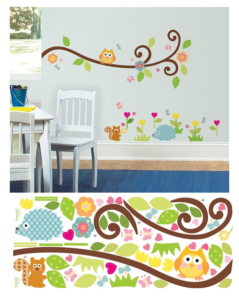 Scroll Tree Branch Wall Decals - Wall Sticker Outlet